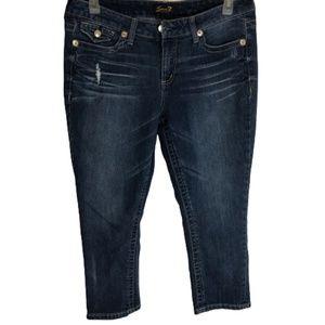 Seven7 Distress Capri Jeans